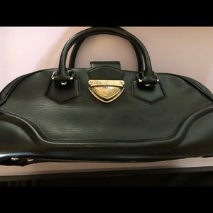 LOUIS VUITTON Epi Bowling Montaigne Black